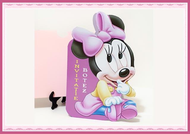 invitatii botez minnie mouse