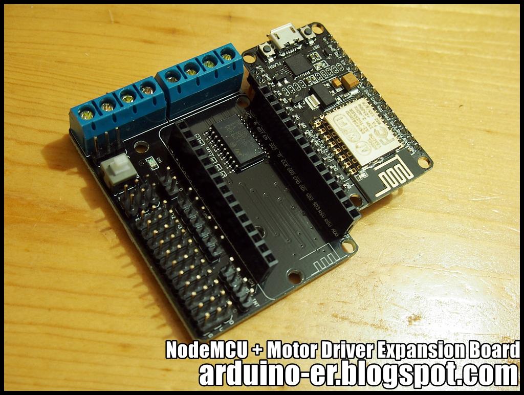 Arduino er esp e motor shield nodemcu driver