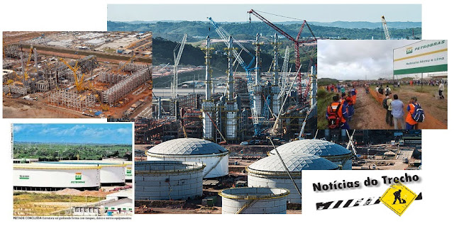 Resultado de imagem para refinarias Abreu e Lima (Rnest) e o Complexo Petroquímico do Rio (Comperj)