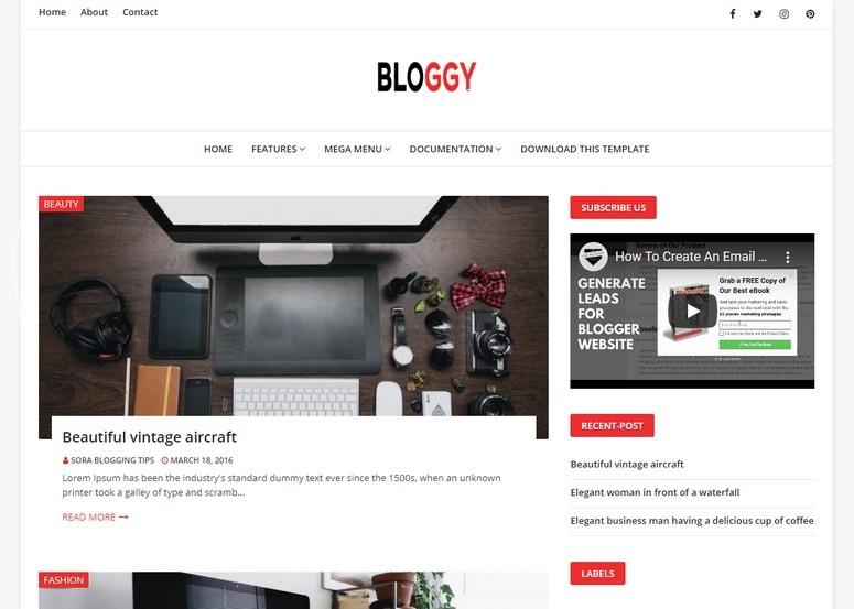 TopFirst Website Templates - Personal Bloggger Templates