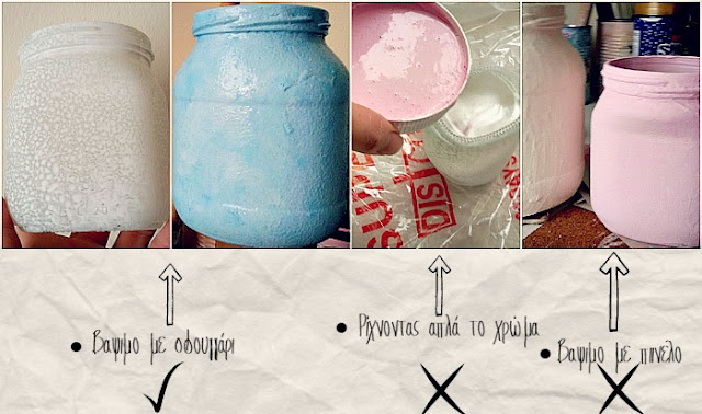 how-to-paint-glass-jars