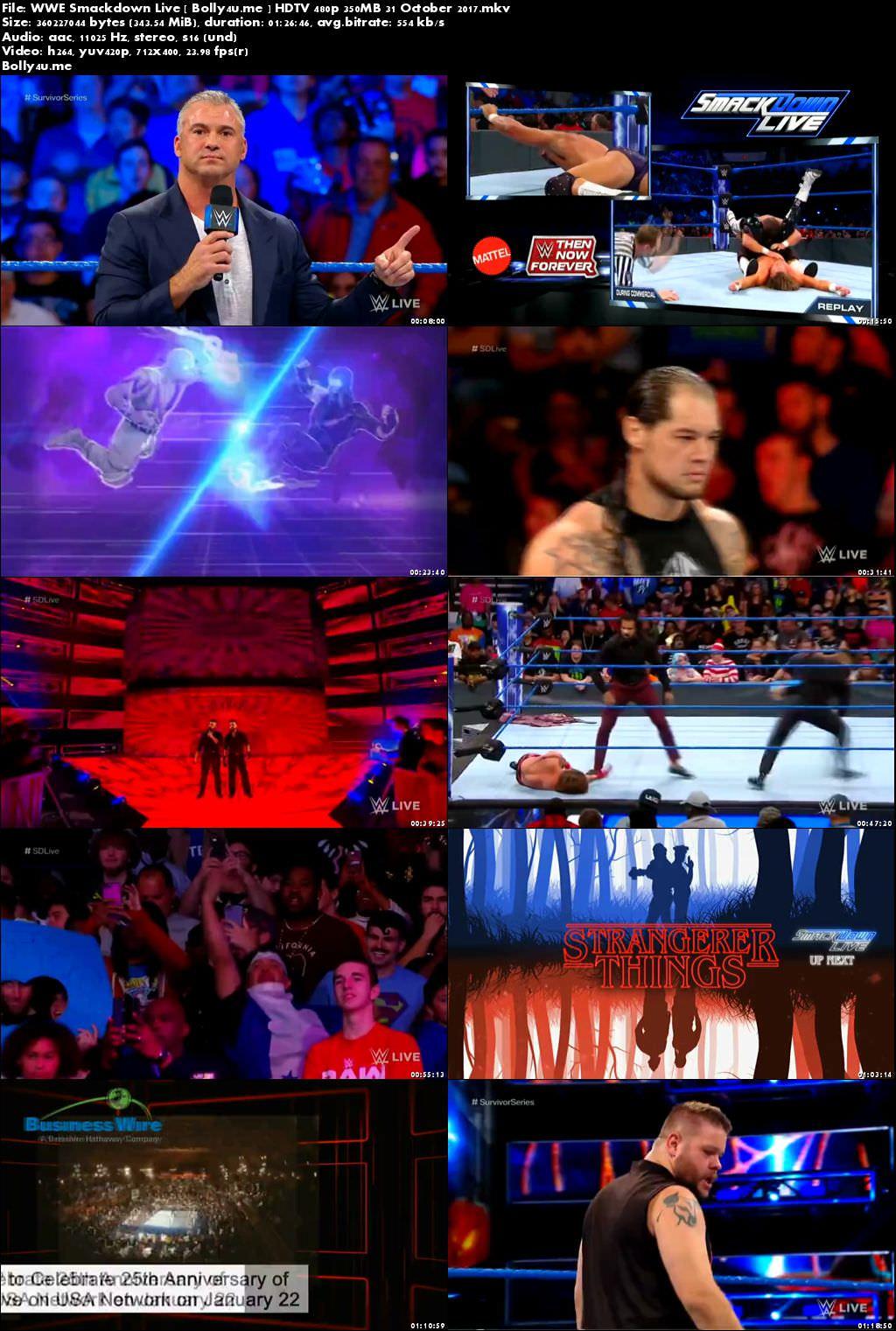 WWE Smackdown Live HDTV 480p 350MB 31 October 2017 Download