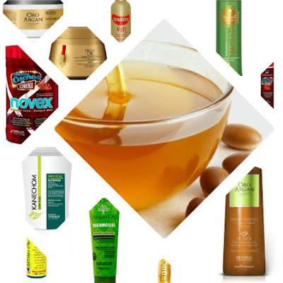 produtos low poo com oleo de argan