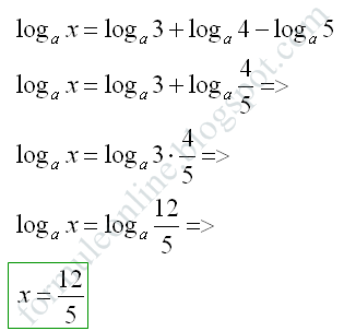 logarithmic ecuations example
