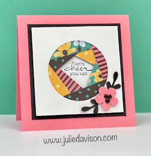 Stampin' Up! Sale-a-Bration Flower & Field Patchwork Cards + VIDEO ~ www.juliedavison.com #stampinup #saleabration #sab2021