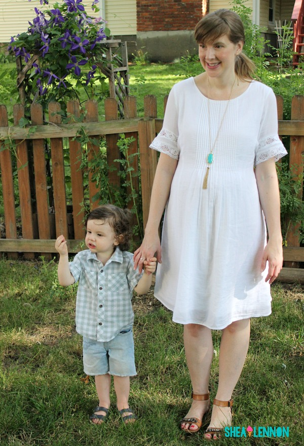 What are your summer staples? For me, a white dress is high on the list, and for my toddler, cut-off shorts and button-up shorts. To see details, click through.