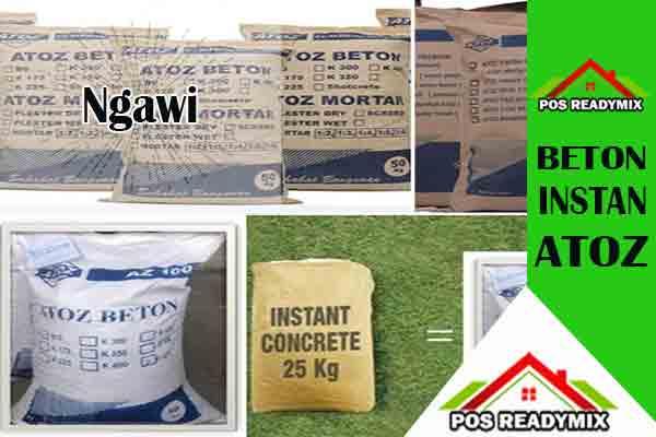 Harga Beton Instan Ngawi Per Sak Terbaru 2020