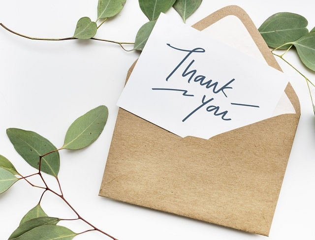 business thank you note etiquette writing tips email letters job interviews