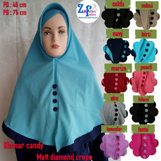 khimar candy matt diamond crepe
