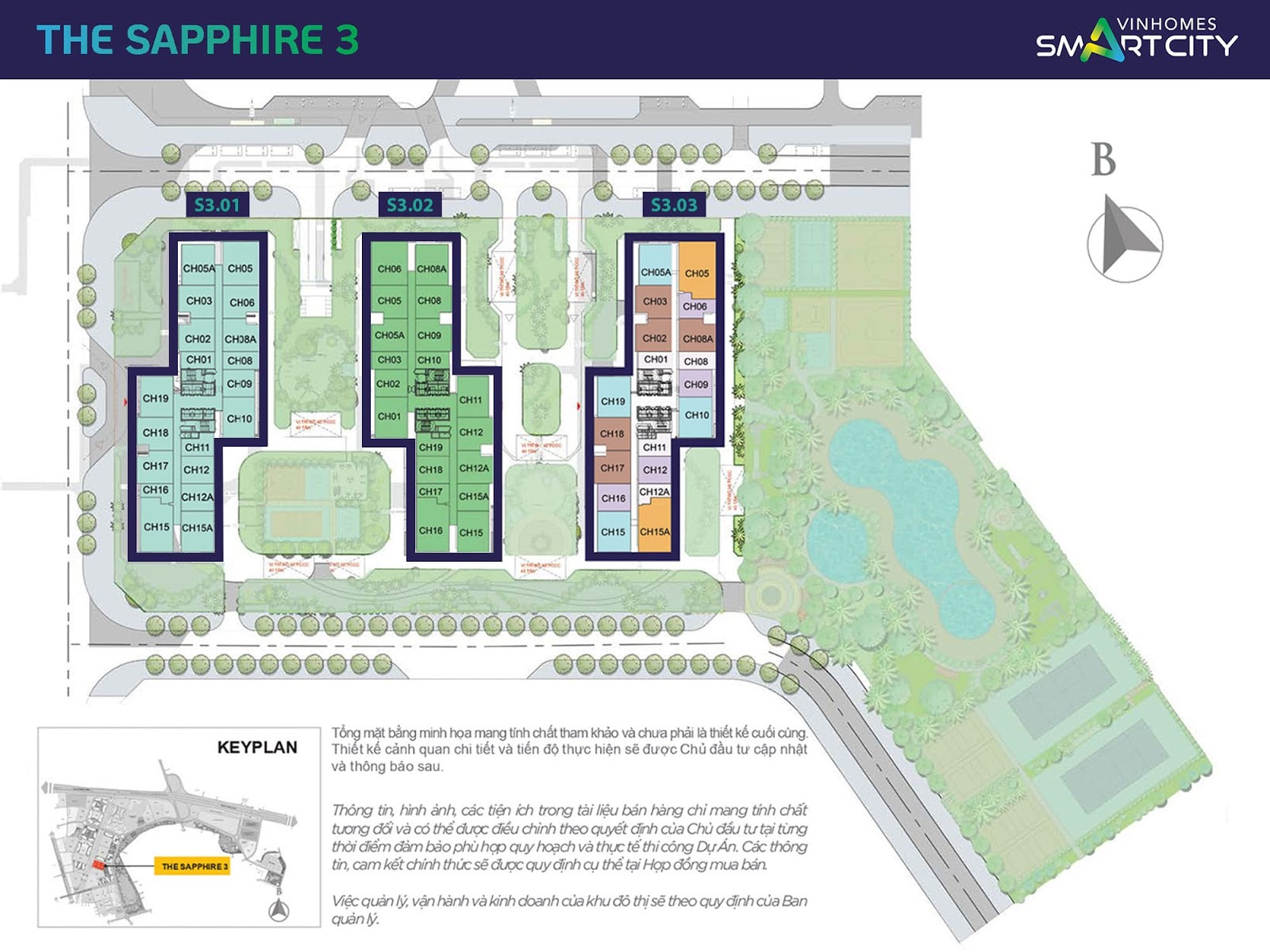 mat bang the the shapphire 3 vinhomes smart city
