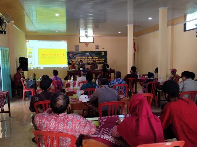 Kodim Sragen - Penyuluhan pertanian dan peternakan di Desa Juwok adalah sasaran non fisik terakhir TMMD reguler 108 Sragen