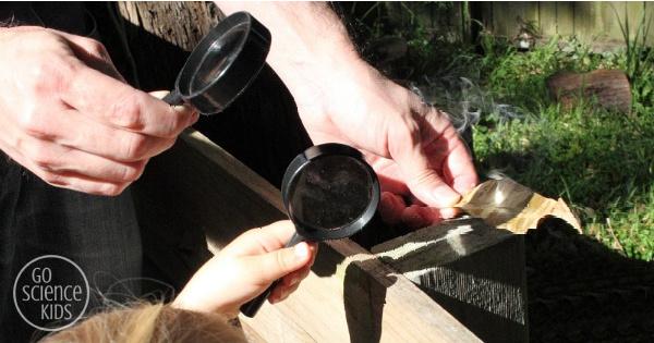 magnifying glass fire - summer camp ideas