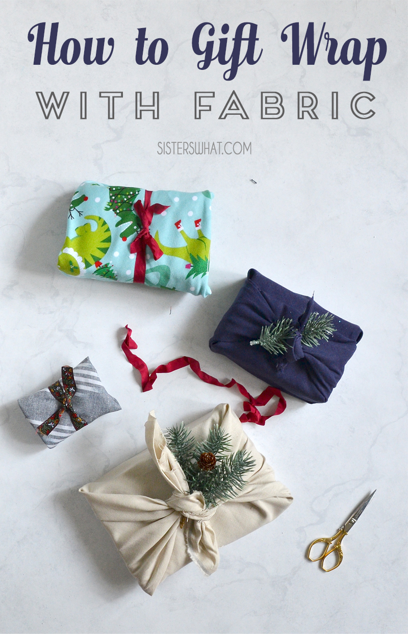 reuse fabric how to gift wrap with fabric