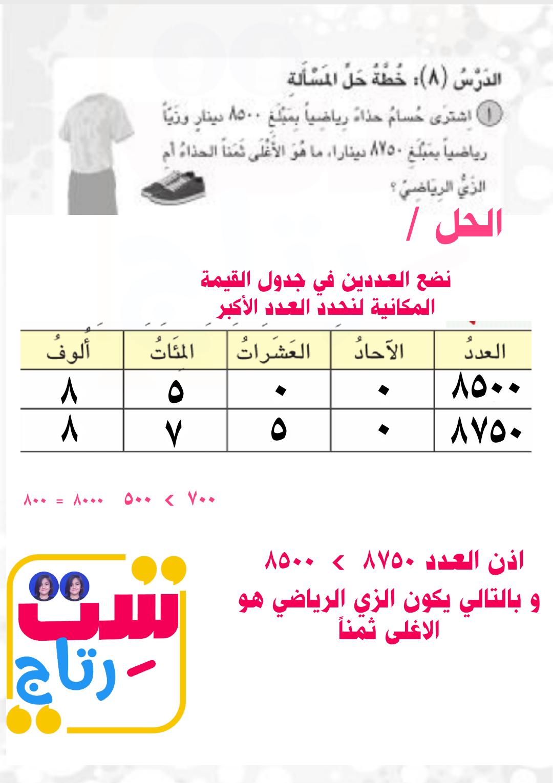 نشاط رياضيات صف الثالث ابتدائي صفحة 14