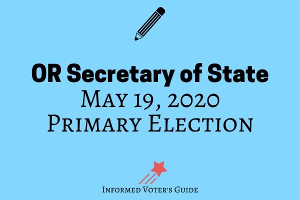 Voters guide for Oregon Secretary of State