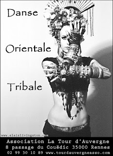 Elaïs Livingston, Rennes, danse, cours, orientale, tribal, ATS, Fusion, Tribal Fusion