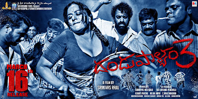 Poster Of Dandupalya 3 In Dual Audio Hindi Kannada 300MB Compressed Small Size Pc Movie Free Download Only At worldfree4u.com
