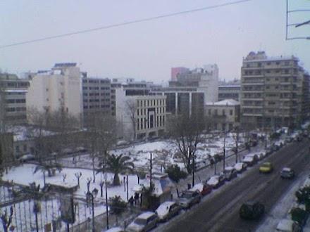 Εικόνες απο το Χιονιά του 2004 στον Πειραιά