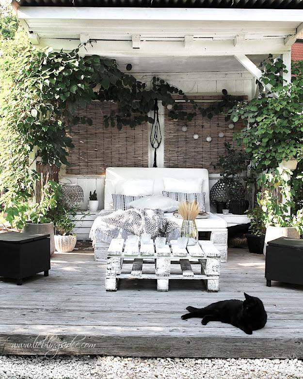 Garten Deko Palettensofa Lounge Beachhouse Lieblingsidee Terrasse