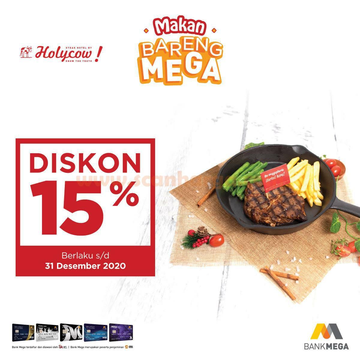 Promo Steak Hotel by Holycow Diskon 15% dengan Kartu Kredit & Debit Bank Mega