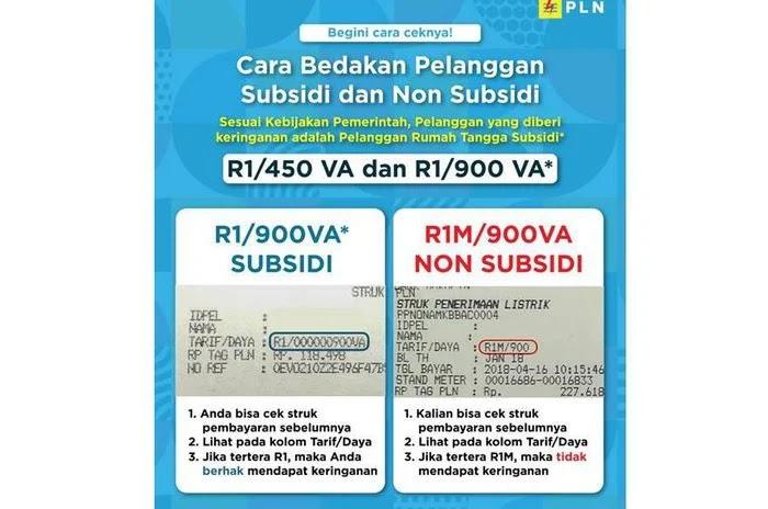 Cara Bedakan Pelanggan Subsidi dan Non Subsidi