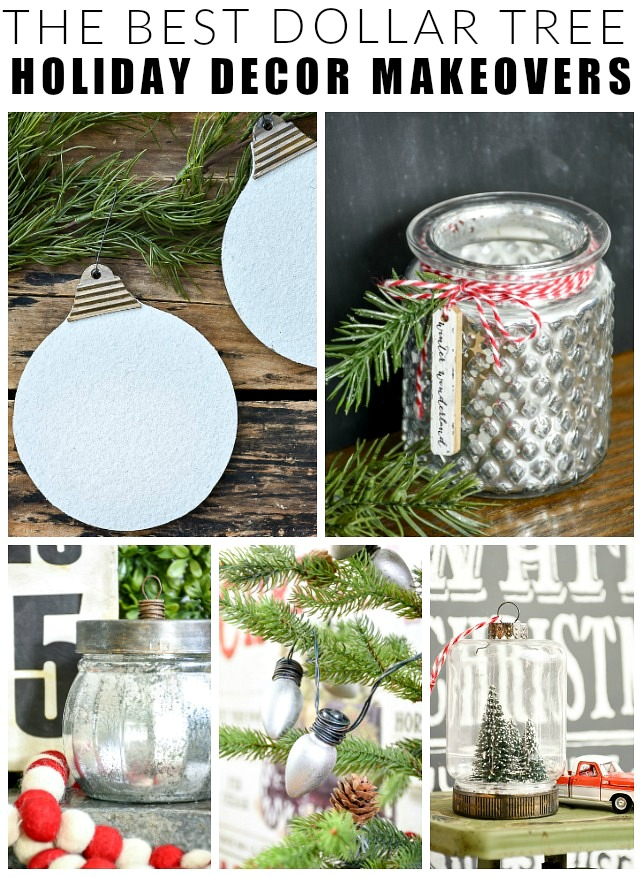 The best Dollar Tree holiday decor makeovers