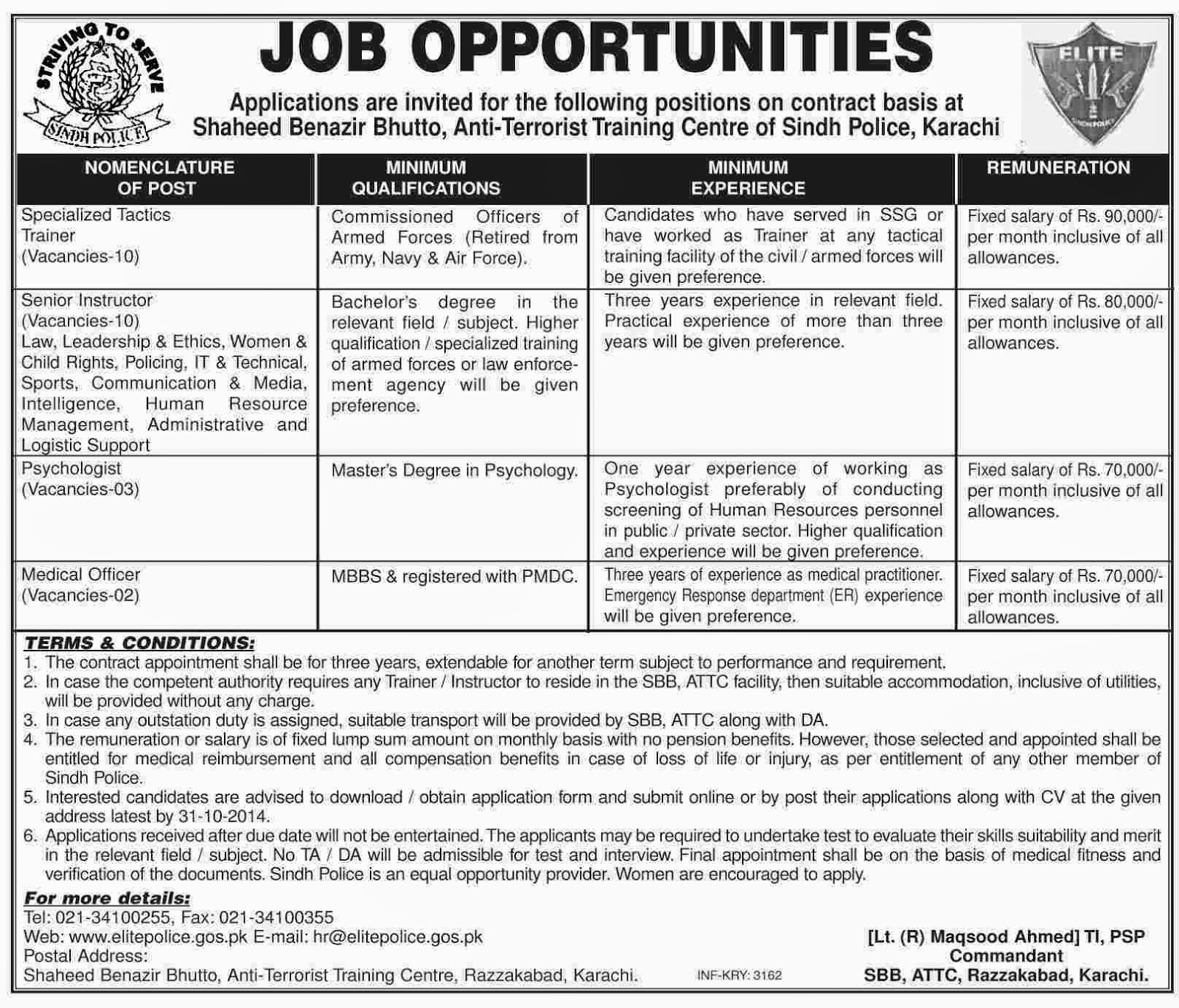 Try These Government Jobs In Karachi Today Police {Mahindra