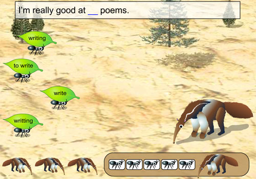 Online game about using the gerunds and infinitive