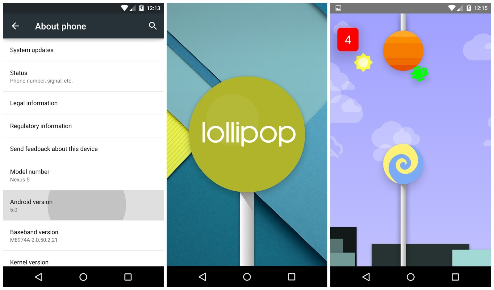 Android Lollipop Easter Egg