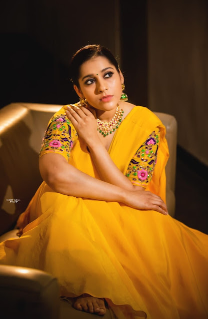 Rashmi Gautam Latest Stills in Yellow Dress Actress Trend