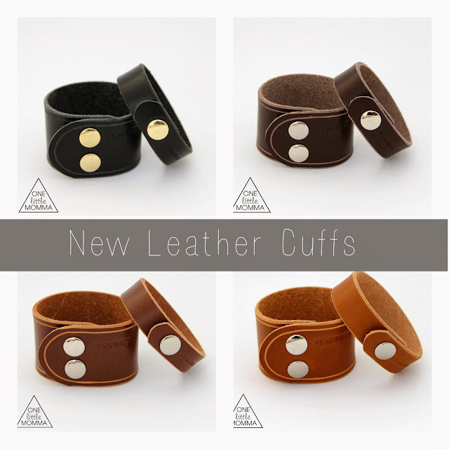 Leather cuffs from ONE little MOMMA- your go-to accessory