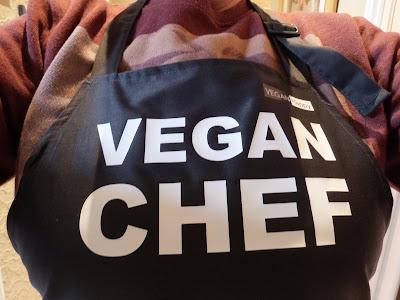 Close up of the Vegan Chef Apron