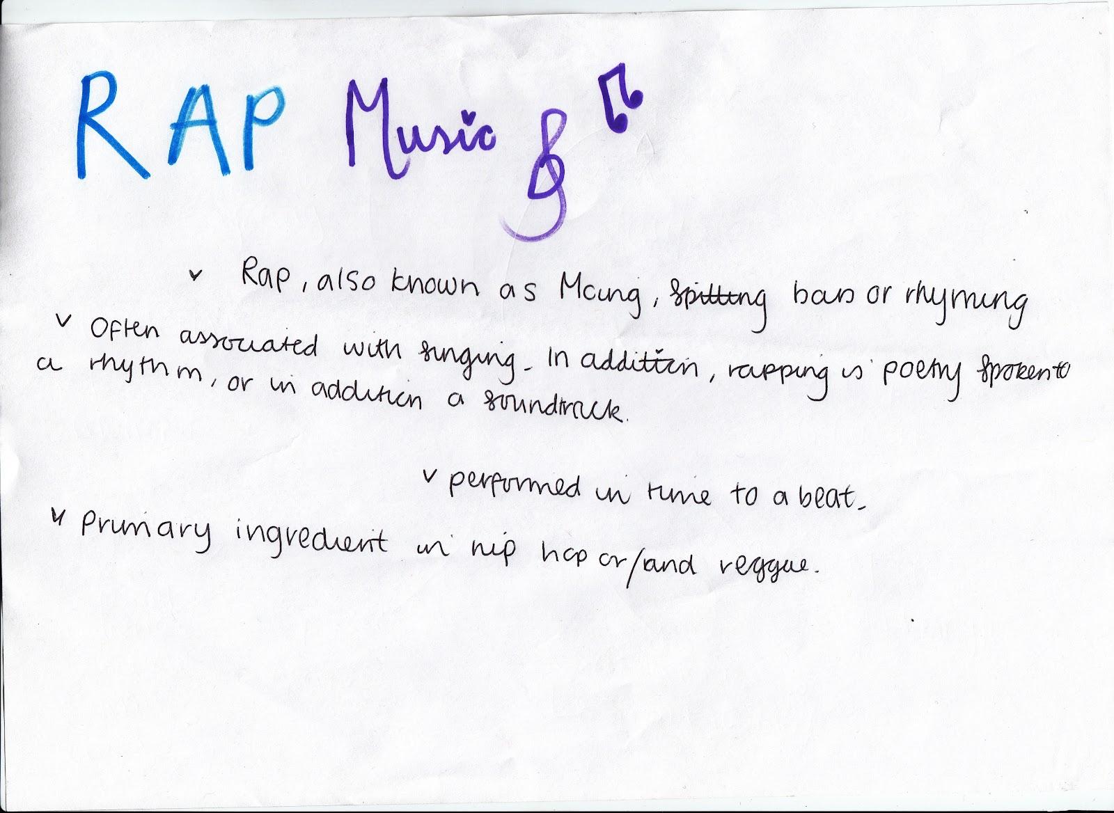 A study on rap music