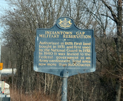 Indiantown Gap Military Reservation Historical Marker in Lebanon County, Pennsylvania