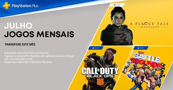 Call of Duty: Black Ops 4, WWE 2K Battlegrounds e A Plague Tale: Innocence são os jogos do mês de julho no PlayStation®Plus