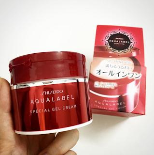 kem dưỡng da shiseido aqualabel đỏ