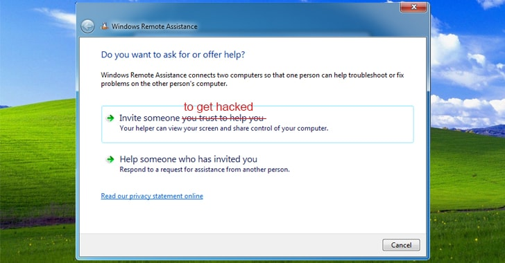 Windows-remote-assistance-hacking