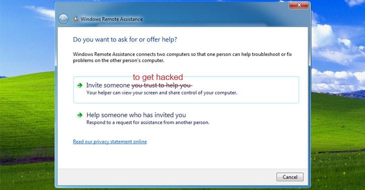 Windows Remote Assistance Exploit Lets Hackers Steal Sensitive Files
