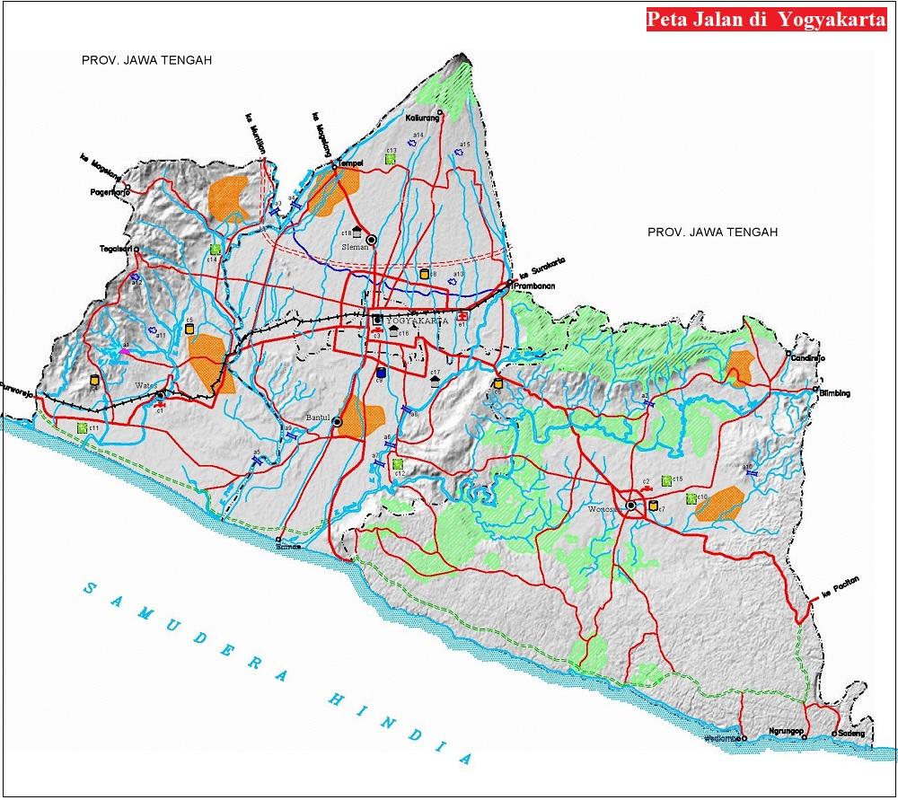 Peta Jalan di Yogyakarta