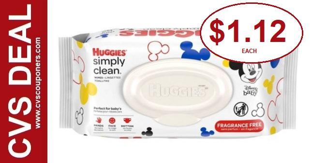 Huggies Baby Wipes CVS Deal $1.12 - 8/4-8/10