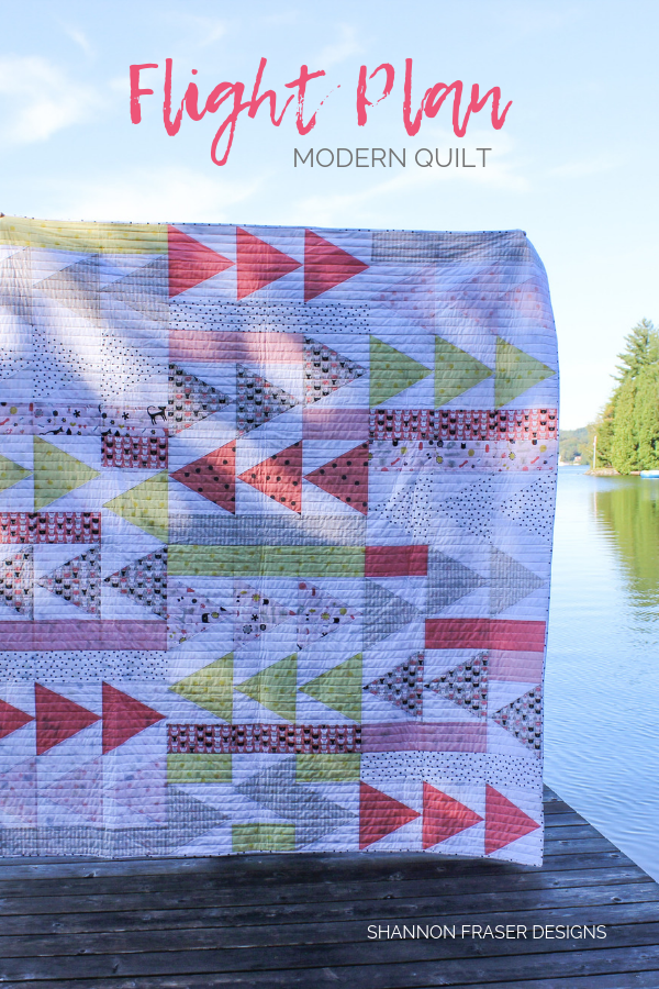 Meow Flight Plan Quilt | Best of 2019 | Shannon Fraser Designs #quiltsinthewild #trianglequilt