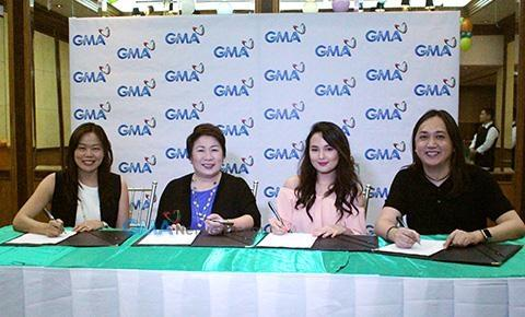 Inah De Belen contract signing with GMA7