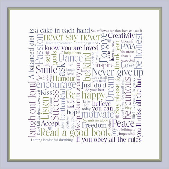 Inspirational Word Art Canvas