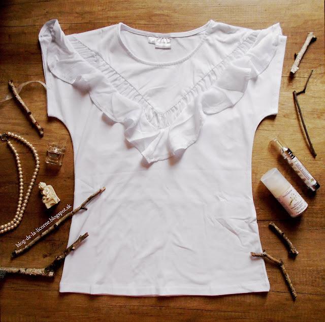 Bonprix Biele bavlnené tričko