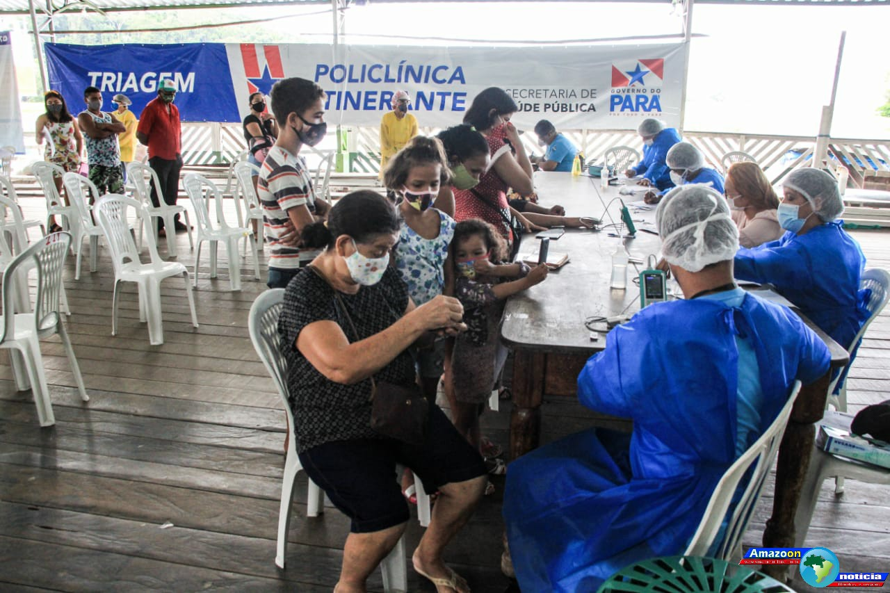 Mais de  200 pessoas foram atendidas pela policlínica itinerante no município de Óbidos.