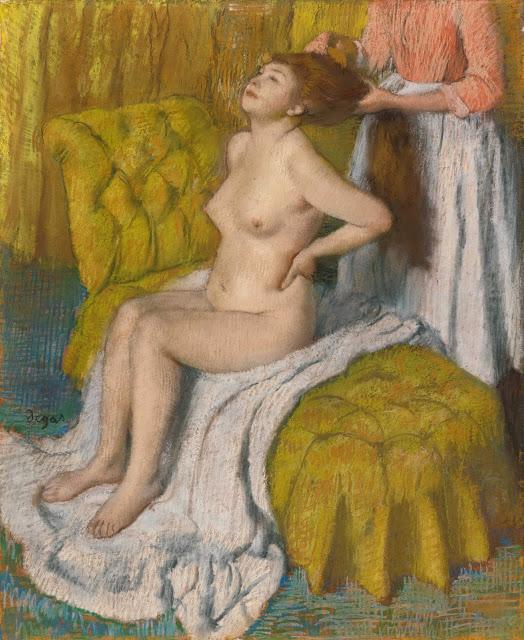 Эдгар Дега - Расчёсывание волос (1886-1888)