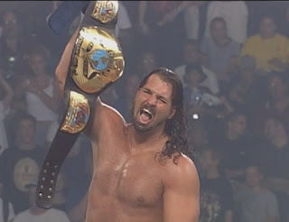 WCW Great American Bash 1999 - Chris Kanyon celebrates a WCW tag team title victory for the Jersey Triad