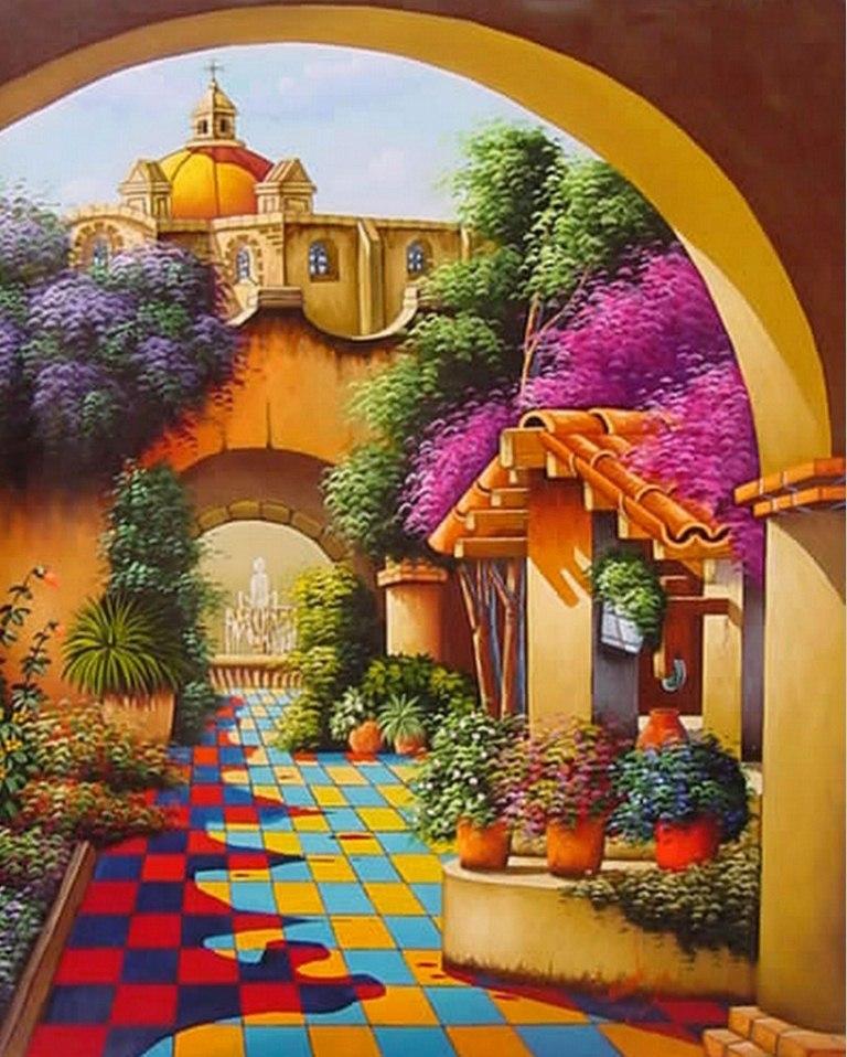 Las Mejores Fotos De Jardines En Pinterest: Imágenes Arte Pinturas: PINTURAS: PAISAJES MEXICANOS