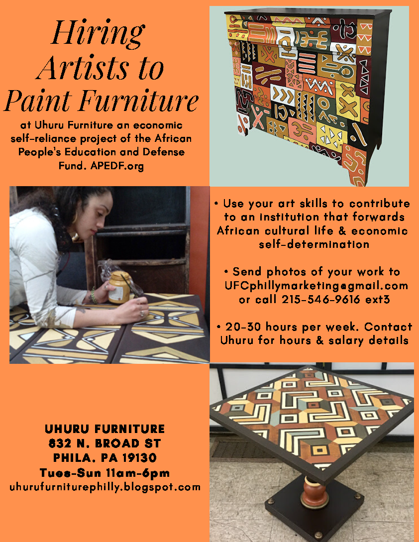 Uhuru Furniture is Hiring Artists to Paint Furniture