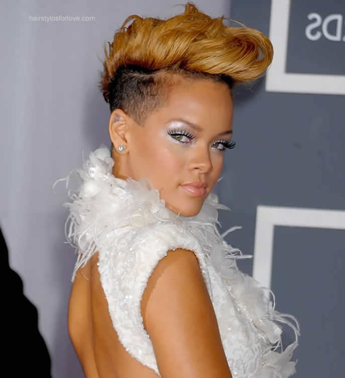 Peachy Rihanna Short Hairstyles Hairstyles And Haircuts Short Hairstyles Gunalazisus